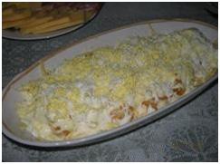 Салат с твердого сыра с апельсинами