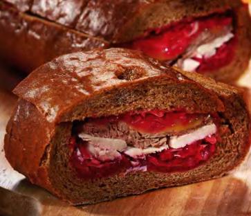 закрытые бутерброды с красной капустой