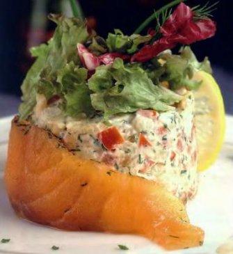 салат из лосося по-домашнему