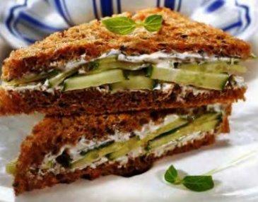 английские сэндвичи с огурцами