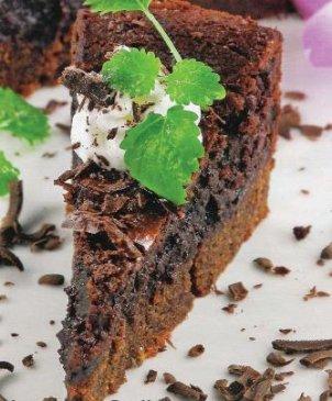 Шоколадный кекс с сыром