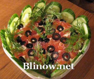 Салат из форели