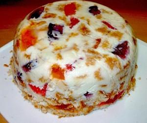 Новогодние рецепты. Торт Желейная снежинка.