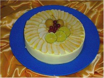 Новый год: Новогодний торт с яблочным кремом.