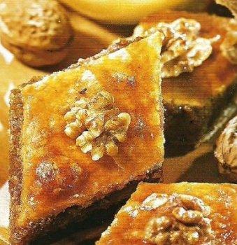 Медовая пахлава. Пахлава с медом и орехами