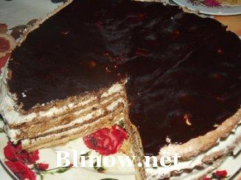 Торт медовый с творожным кремом