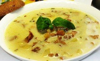 Грибной суп-пюре с сыром