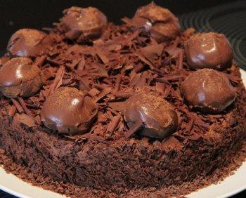 Трюфельный торт. Рецепт приготовления